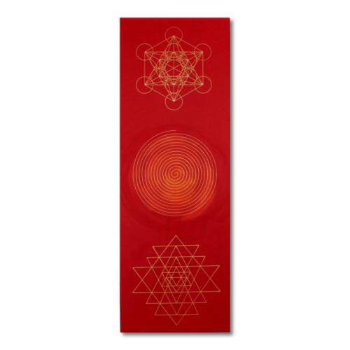 Wandbild Weisheit und Wohlstand Sri Yantra Spirale Metatron