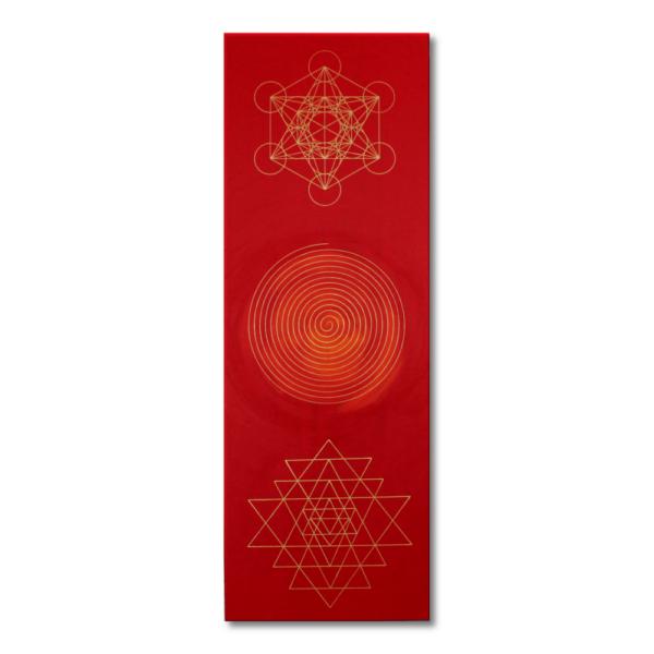 Wandbild Energiebild Weisheit und Wohlstand Sri Yantra Gold Spirale_Frontalbild