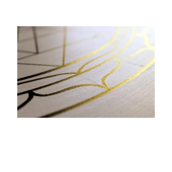 Wandbild Energiebild Yantra für Erfolg Sri Yantra Gold_Detailbild
