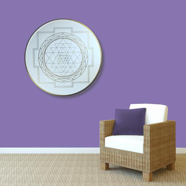 Wandbild Energiebild Yantra für Erfolg Sri Yantra Gold_violett