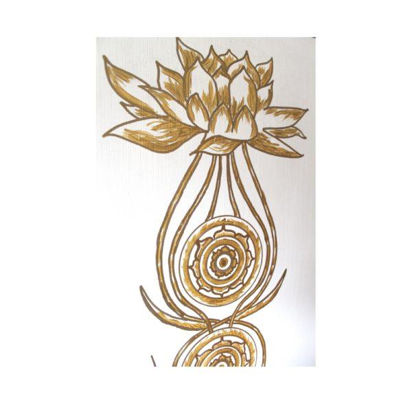 Wandbild Kundalini Gold Blume des Lebens_Detailbild