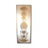 Wandbild Kundalini Blume des Lebens in Gold ab Größe 30cm x 90cm - Energiebild handgemalt