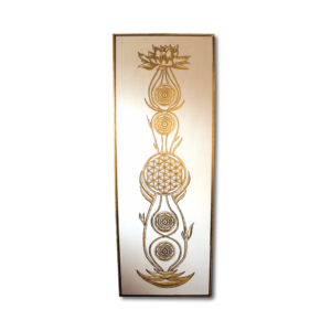 Wandbild Kundalini Gold Blume des Lebens_Frontalbild