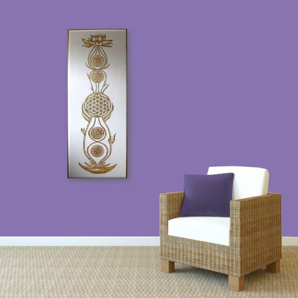 Wandbild Kundalini Gold Blume des Lebens_Var2