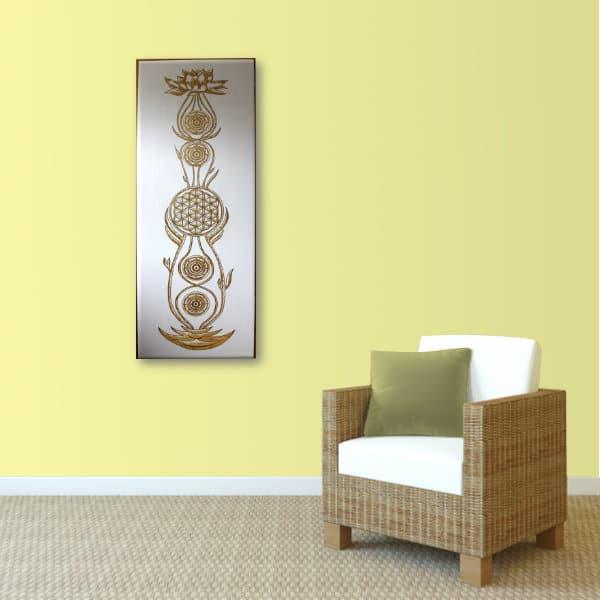 Wandbild Kundalini Gold Blume des Lebens_Var3