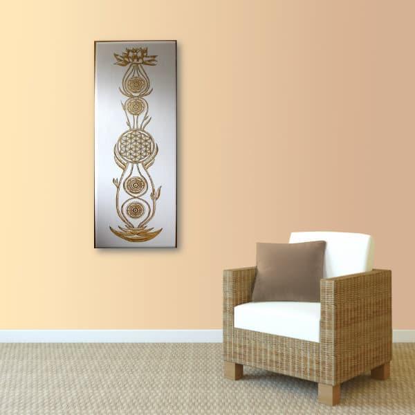 Wandbild Kundalini Gold Blume des Lebens_Var_1
