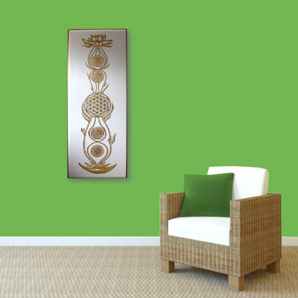 Wandbild Kundalini Gold Blume des Lebens_grün