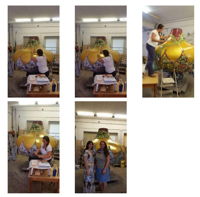 Goldkuppel Kunsthaus vergolden