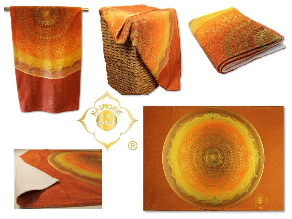 Badetuch Muladhara Energiebilder_Collage