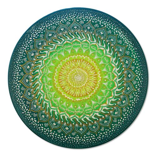 Leinwandbild Mandala Gold Healing 40cm