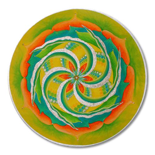 Leinwandbild Mandala Gold Sommersonnenwende_70cm
