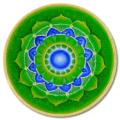 Leinwandbild Mandala Herzchakra_80cm