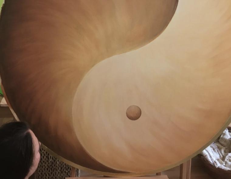 Yin Yang Wandbild malen