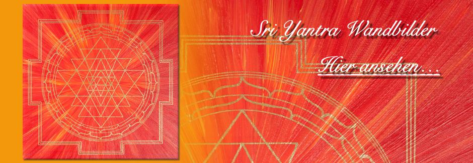 Sri Yantra Wandbilder handgemalt
