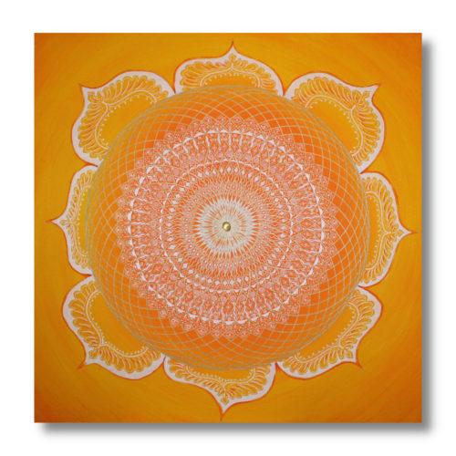 Leinwandbild Mandala Blütenmandala_Frontalbild